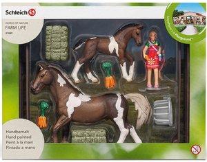 Schleich 21049 Pferdefütterung Trakehner