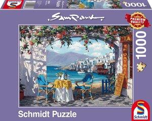 Schmidt Spiele Puzzle Sam Park Rendez-vous auf Mykonos 1000 Teil