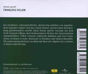 Kinski Spricht Francois Villon