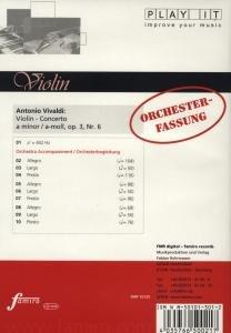 Concerto op 3, Nr. 6, a-moll, Orchesterbegleitung