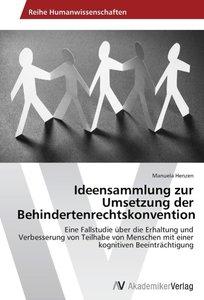 Ideensammlung zur Umsetzung der Behindertenrechtskonvention
