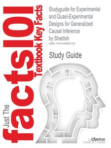 Studyguide for Experimental and Quasi-Experimental Designs for G