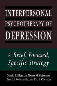Interpersonal Psychotherapy of Depression