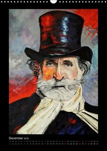 Pop Art Famous composers (Wall Calendar 2015 DIN A3 Portrait)