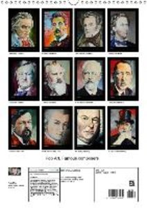 Pop Art Famous composers (Wall Calendar 2015 DIN A3 Portrait)