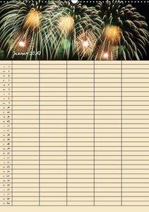 Familienplaner Feuerwerk