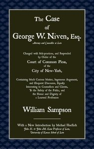 The Case of Geoge W. Niven, Esq.