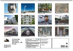 Emotionale Momente: Barcelona - die Kunst. (Wandkalender 2015 DI