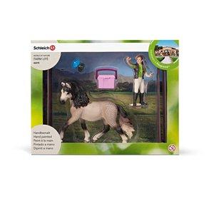 Schleich 42270 Pferdepflegeset, Andalusier