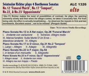 Klaviersonaten 12,17,22,& 23