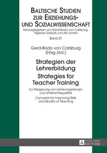 Strategien der Lehrerbildung / Strategies for Teacher Training