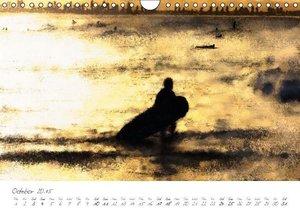 Painterly Surfer (Wall Calendar 2015 DIN A4 Landscape)