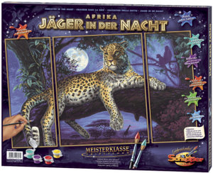 Schipper 609260607 - Afrika: Jäger in der Nacht, MNZ, Malen nach