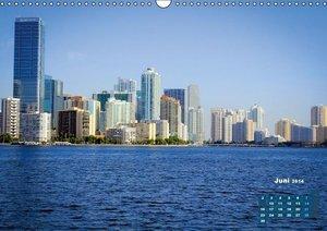 Wolkenkratzer und Strand - Miami (Wandkalender 2014 DIN A3 quer)