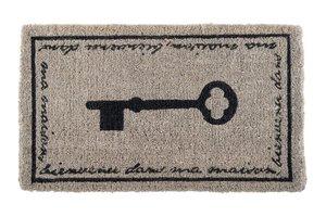 Fussmatte Schlüssel grau