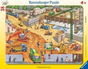 An der Baustelle. Puzzle mit 38 Teilen