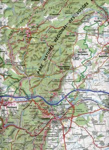 IGN 75 000 Touristische Wanderkarte Vosges du Nord Ste. Odile