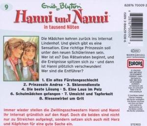 Hanni und Nanni 09 in tausend Nöten. CD
