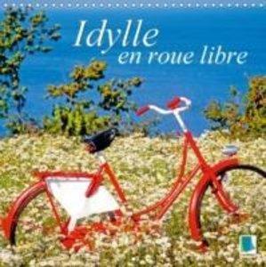 Idylle en roue libre (Calendrier mural 2015 300 × 300 mm Square)