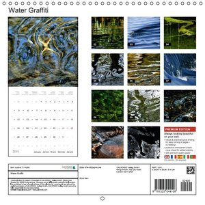 Water Graffiti (Wall Calendar 2015 300 × 300 mm Square)