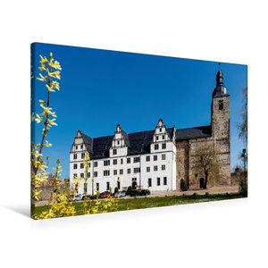 Premium Textil-Leinwand 90 cm x 60 cm quer Klosterkirche St. Mar