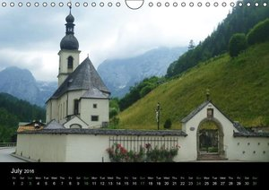 Beautiful Bavarian Alps (Wall Calendar 2016 DIN A4 Landscape)
