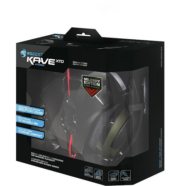 ROCCAT Kave XTD Stereo - Premium Stereo Headset - Camo Charge (M - zum Schließen ins Bild klicken