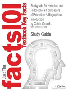 Studyguide for Historical and Philosophical Foundations of Educa