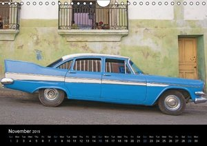 On the road in Cuba (UK-Version) (Wall Calendar 2015 DIN A4 Land