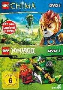 LEGO Legends of Chima DVD 1+Ninjago DVD 1 (2 DVD