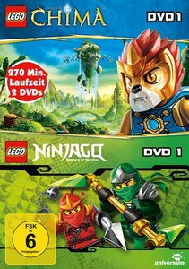 LEGO Legends of Chima DVD 1+Ninjago DVD 1 (2 DVD
