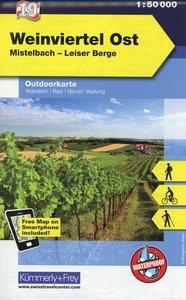 KuF Österreich Outdoorkarte 19 Weinviertel Ost 1 : 50 000