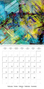 digital abstract art (Wall Calendar 2015 300 × 300 mm Square)