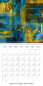 digital abstract art (Wall Calendar 2015 300 × 300 mm Square)