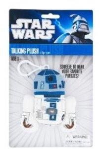 Joy Toy 100243 - Star Wars: R2D2, sprechender Plüschschlüsselanh