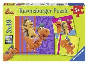 Spaß mit dem Drachen Kokosnuss. Puzzle 3 x 49 Teile