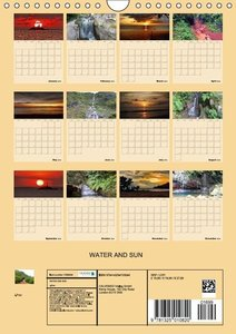 WATER AND SUN (Wall Calendar 2015 DIN A4 Portrait)