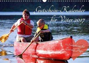 Gutschein-Kalender für Väter 2017 (Wandkalender 2017 DIN A3 quer