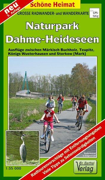 Naturpark Dahme-Heideseen 1 : 35 000. Radwander-und Wanderkarte - zum Schließen ins Bild klicken