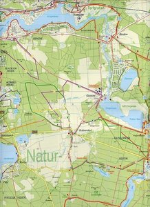 Naturpark Dahme-Heideseen 1 : 35 000. Radwander-und Wanderkarte