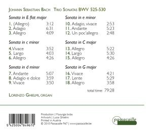 Triosonaten Für Orgel BWV 525-530