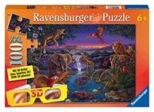 Ravensburger 13637 - Afrikatiere bei Nacht, 3D-Puzzle