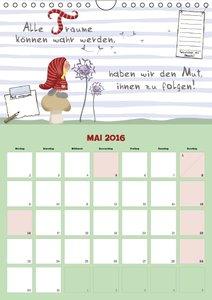 Wunsch-Wichtel Planer (Wandkalender 2016 DIN A4 hoch)