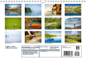 Angling - water, solitude and nature (Wall Calendar 2015 DIN A4