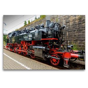 Premium Textil-Leinwand 120 cm x 80 cm quer Dampflokomotive Baur