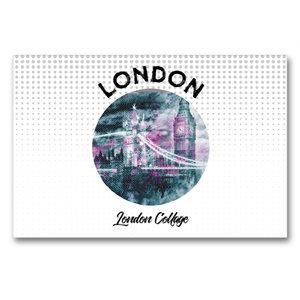 Premium Textil-Leinwand 90 cm x 60 cm quer Graphic-Art LONDON Lo