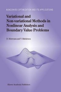 Variational and Non-variational Methods in Nonlinear Analysis an