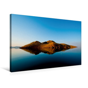Premium Textil-Leinwand 75 cm x 50 cm quer Lake Argyle