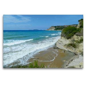 Premium Textil-Leinwand 120 cm x 80 cm quer Strand von Arillas