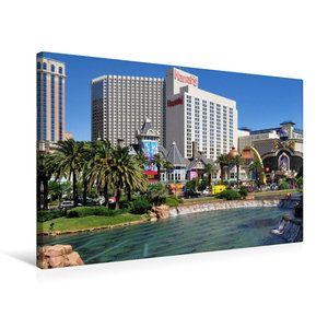 Premium Textil-Leinwand 75 cm x 50 cm quer Casinos und großzügig